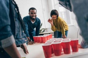 Beer Pong Game With Friends