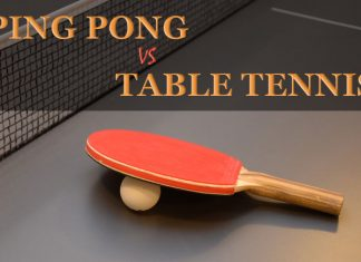 Diferences between table tennis and ping pong